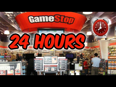 (KICKED OUT!) 24 HOUR OVERNIGHT in GAMESTOP FORT   OVERNIGHT CHALLENGE in GAMESTOP GONE WRONG