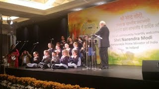 Modi in Ireland: Irish Kids sing Sanskrit Shlokas, PM mocks Secularists