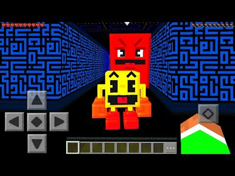 Minecraft PE : PAC MAN MOD In Minecraft Pocket Edition