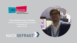 Personalisierung im Handel: Interview mit Andreas Schmidt - dmexco 2016 | Fairrank TV - Nachgefragt