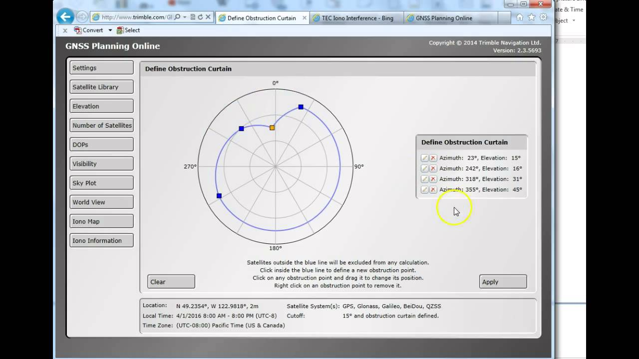 Using the trimble gnss planning tool online youtube for Online planning tool