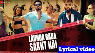 Launda Bada Sakht Hai (Lyrics)_Captive_Sabali The Band_kryso_Smart shail creation