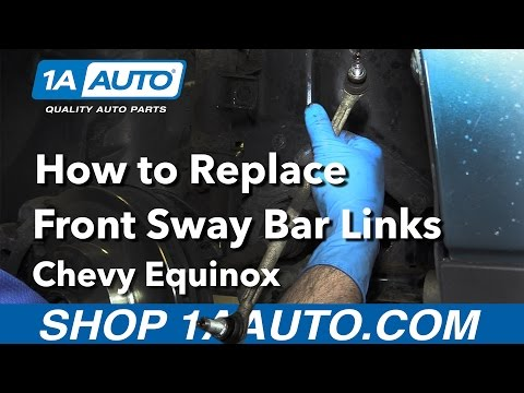 How to Replace Install Front Sway Bar Links 05-09 Chevy Equinox