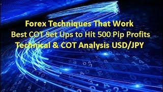 Forex Trading Techniques COT Set Ups for 500 Pip Profits USD/JPY Analysis 13/02