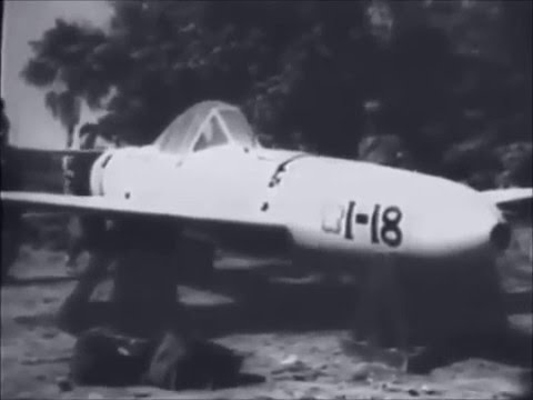 Captured Japanese Kamikaze Suicide Rocket Powered Baka Bomb Yokosuka MXY7 Ohka Cherry Blossom