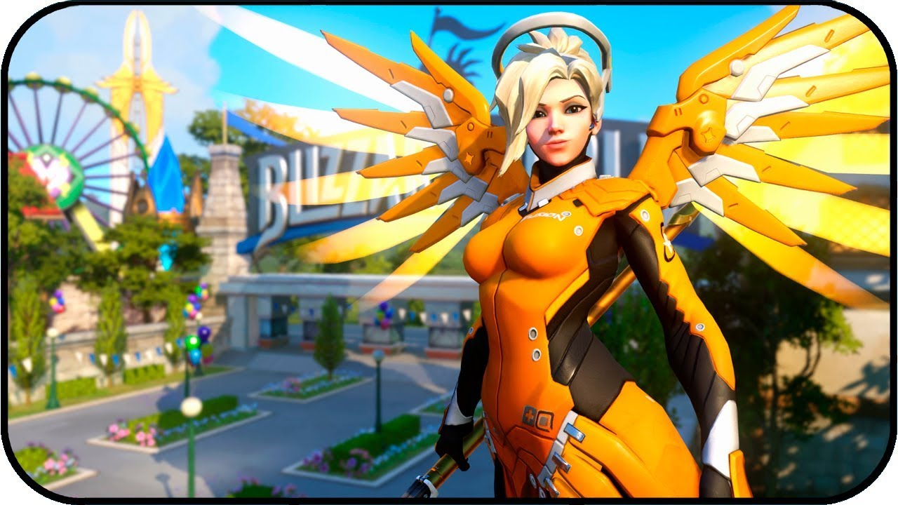 Overwatch League Mercy Fusion Animated Wallpaper 4k 60fps