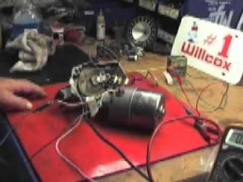 Willcox Corvette wire testing on a 1968 Wiper motor follow