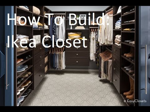 IKEA Pax Closet System Drawer Assembly And Installation