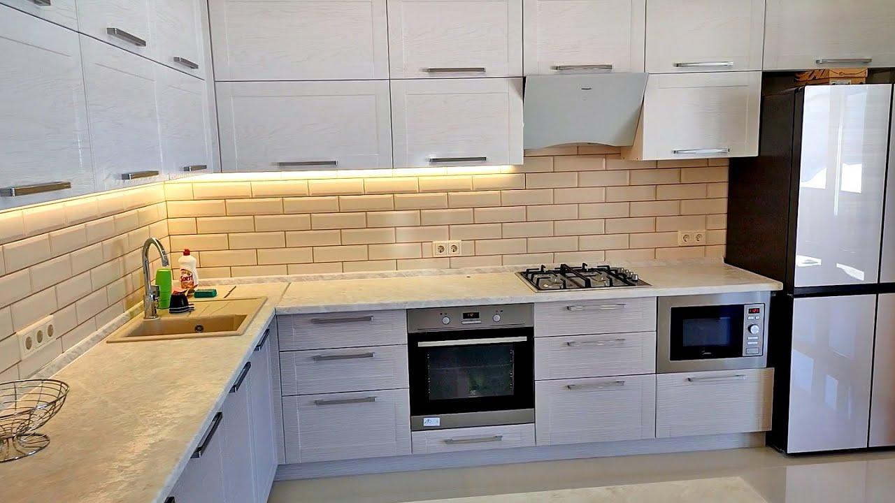Поставил в дом большую угловую кухню. Получилось вполне бюджетно - 345000 руб.