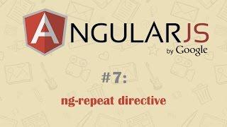 AngularJS Tutorial 7: ng-repeat