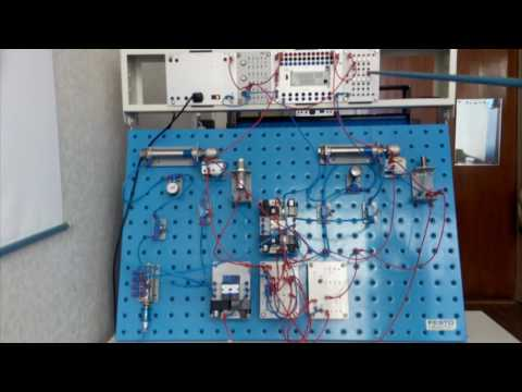 Cистема электропневмоавтоматики с таймером (реле времени). Электропневматический привод.