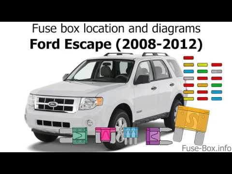 [DIAGRAM_3US]  Fuse box location and diagrams: Ford Escape (2008-2012) - YouTube | 2008 Ford Explorer Fuse Box Location |  | YouTube