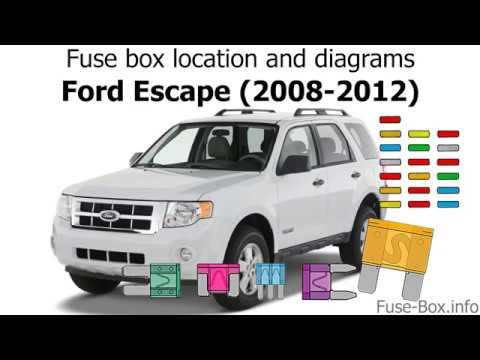 Fuse box location and diagrams Ford Escape (2008-2012) - YouTube