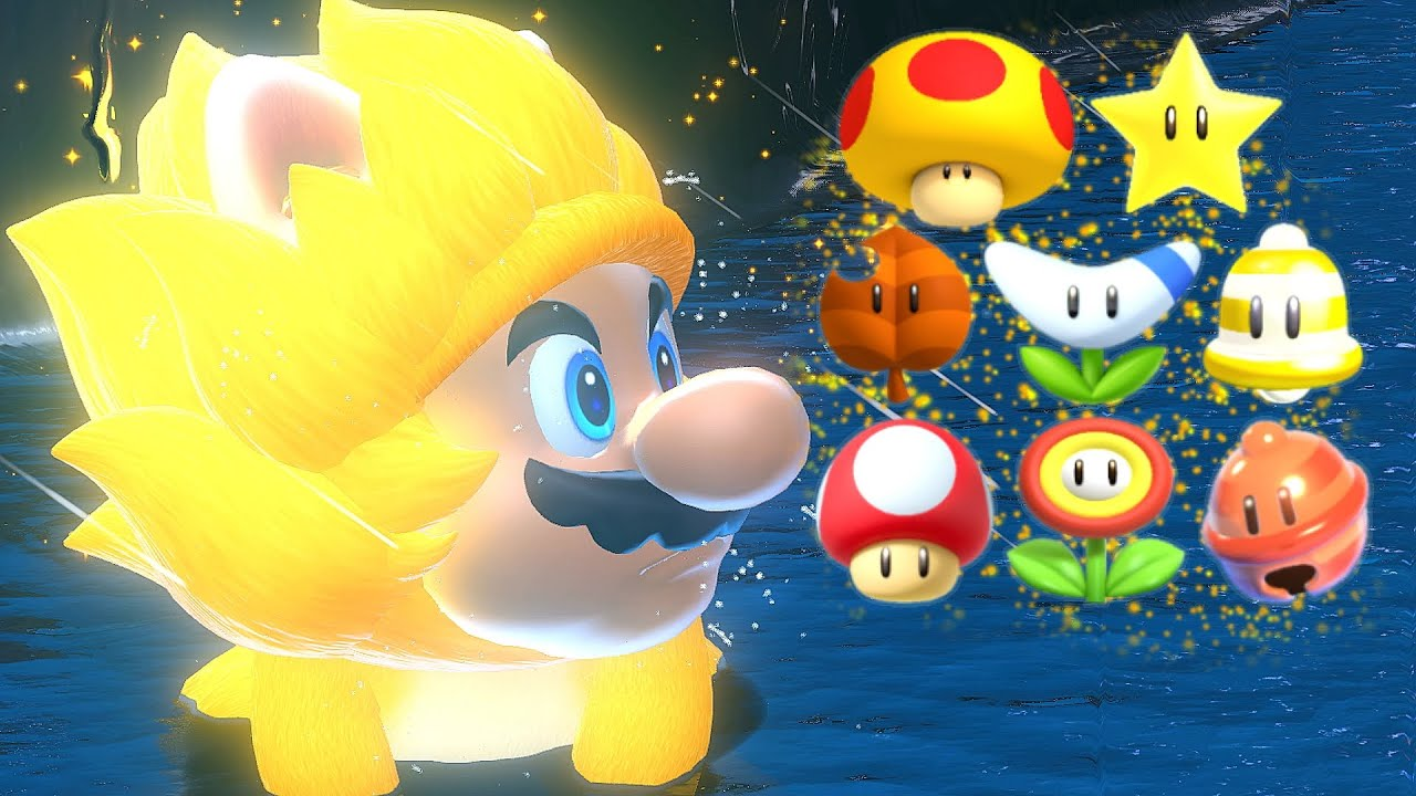 What Happens When Giga Cat Mario Uses Normal Power-Ups in Bowser's Fury?