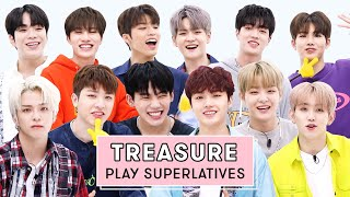 """TREASURE Reveals Who's the Funniest, Who Says """"I Love You"""" The Most, and More   Superlatives"""
