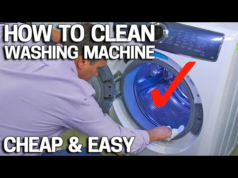 How to clean a smelly washing machine like NEW - EASY