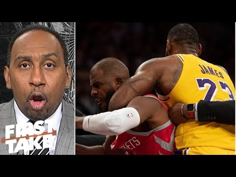 Stephen A: LeBron pulling Chris Paul from fight was 'the right thing'   First Take