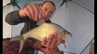 Зимняя рыбалка с Ночевкой - 24 часа в Палатке! Рыбалка 2020
