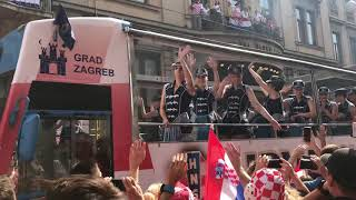 Waiting for a Croatian football team in Zagreb after World Cup final, 16.07.2018., Part 3.