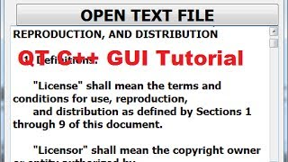 QT C++ GUI Tutorial 27- How to read text file and display file to a textbrowser or textEdit