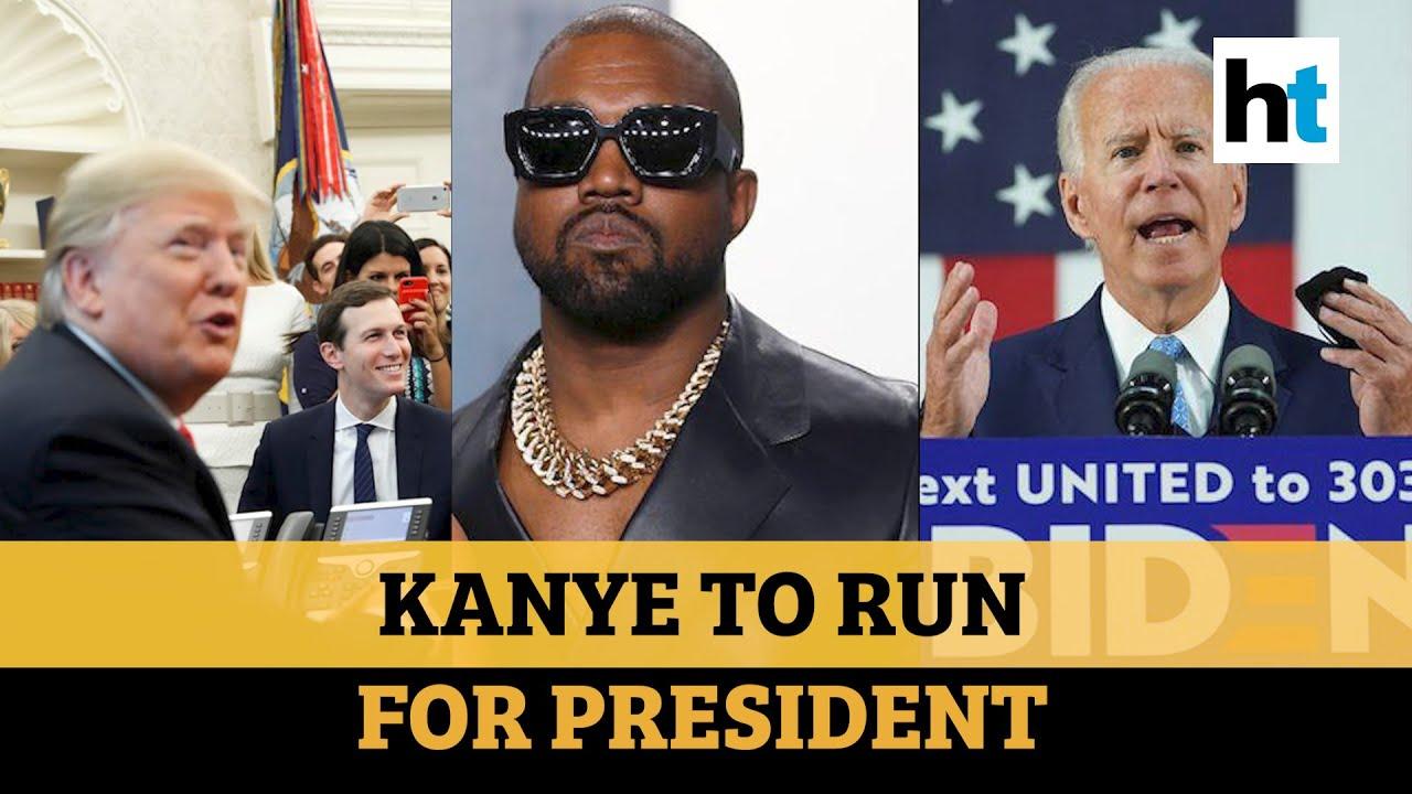 Kanye West vs Donald Trump vs Joe Biden: Rapper to run for US President in 2020 - YouTube