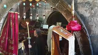 Feast day at the Tomb of St Anna, Jerusalem
