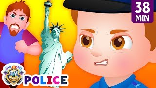 ChuChu TV Police Save the New York Souvenir Kids Gifts from Bad Guys | ChuChu TV Kids Videos