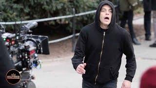 Rami Malek Filming 'Mr. Robot' Scene for Final Season in Central Park