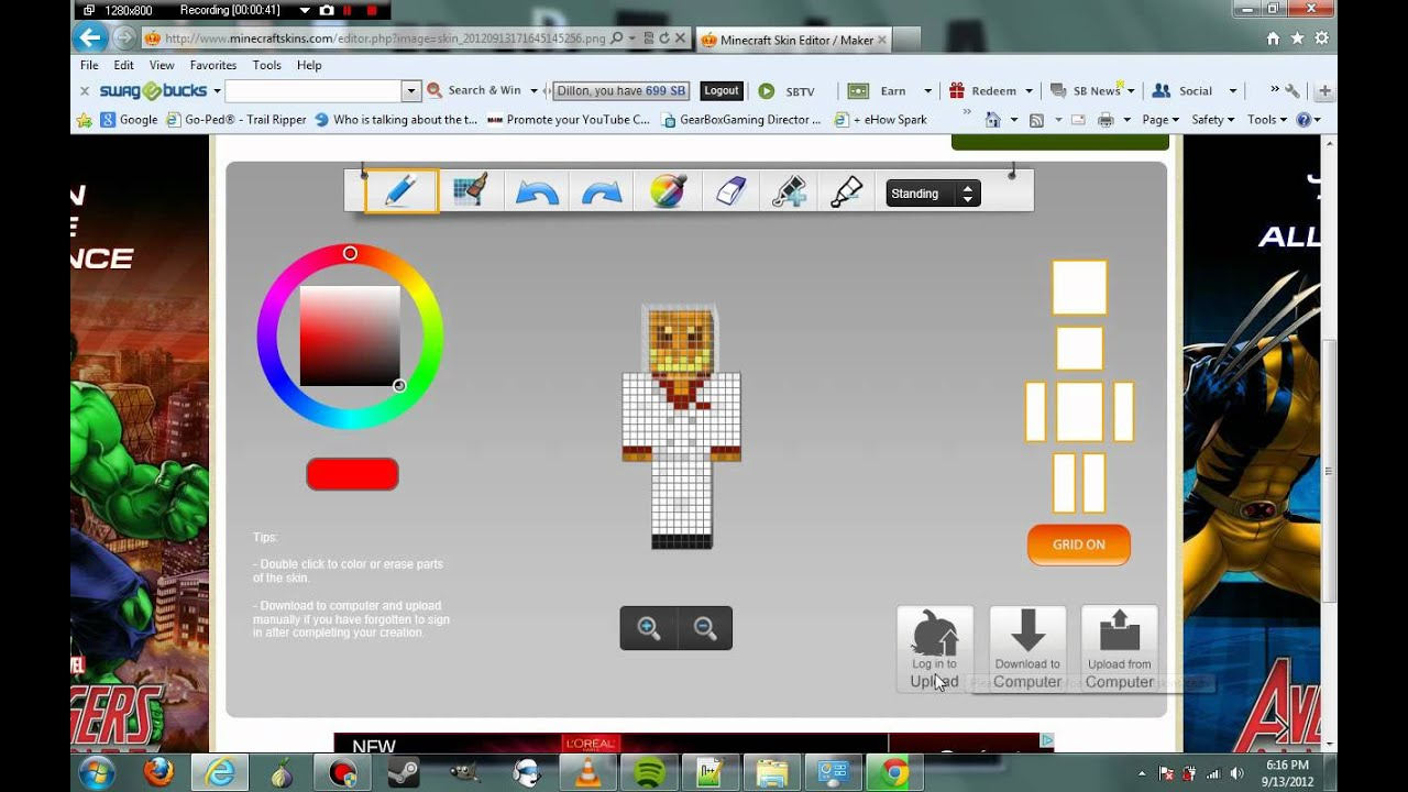 How To Make Your Own Minecraft Skin Youtube