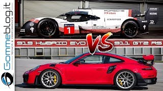 NURBURGRING - Porsche 919 EVO vs 911 GT2 RS - ONBOARD COMPARISON
