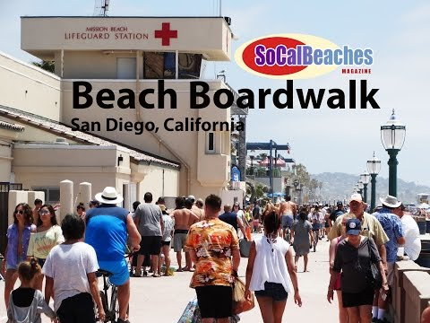 Beach Boardwalk San Diego California