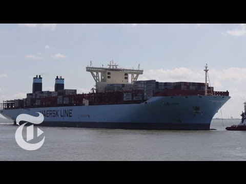 Aboard One of the Biggest Container Ships in the World | The New York Times
