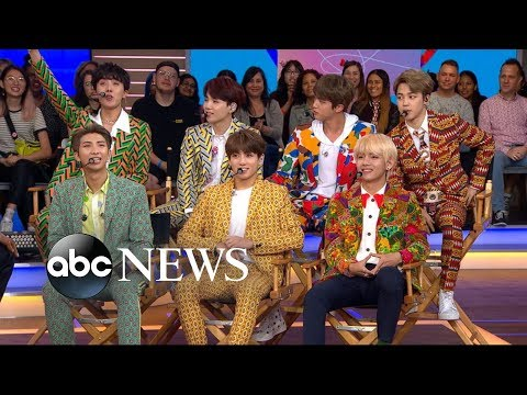 BTS one of the hottest  groups in the world speaks out on &39;GMA&39;