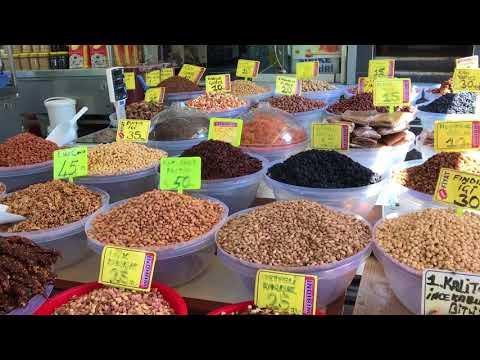 TURKEY ISTANBUL TRAVEL VLOG   Fatih   Turkish Delicacies + Nuts   Honey   Walnut Sausage   4K
