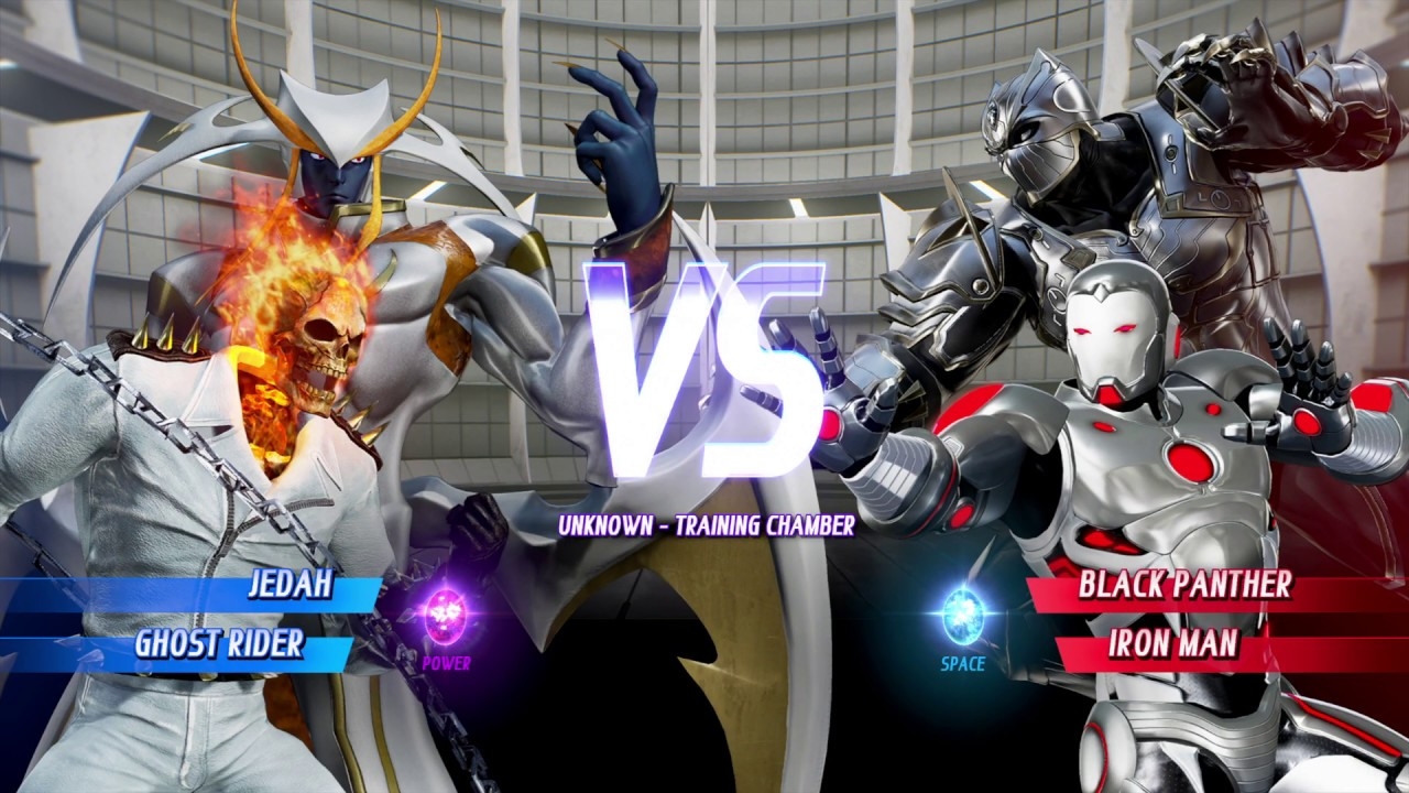 White Jedah and White Ghost Rider vs Silver Panther and Silver Superior  Iron Man