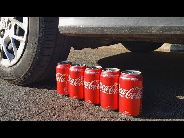 Experimento: Carro vs latinhas de Coca-Cola!
