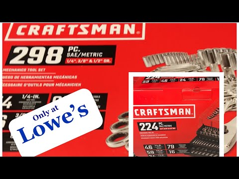 new-craftsman-mechanic's-tool-sets-(298-and-224-pc)-at-lowe's-and-tool-storage-solutions