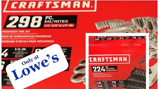 New Craftsman Mechanic's Tool Sets (298 and 224 pc) at Lowe's and Tool Storage Solutions