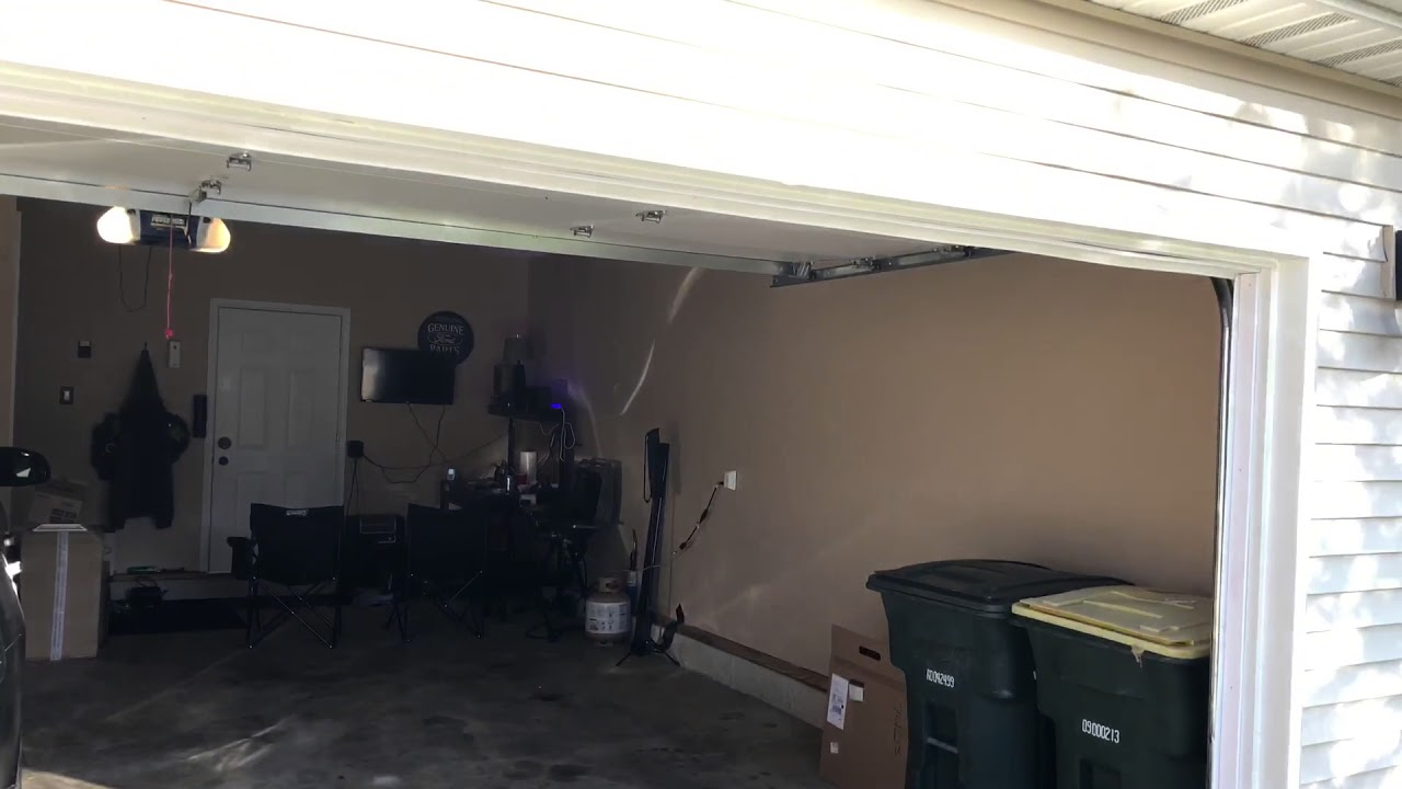 Chamberlain Garage Door Opener Sun Interference Youtube
