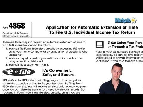 How To File For A Tax Extension Youtube