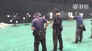 天津特警射击训练