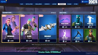 🔴 *NEW* NITEBEAM & FLARE Skins - June 21st Fortnite Daily Item Shop