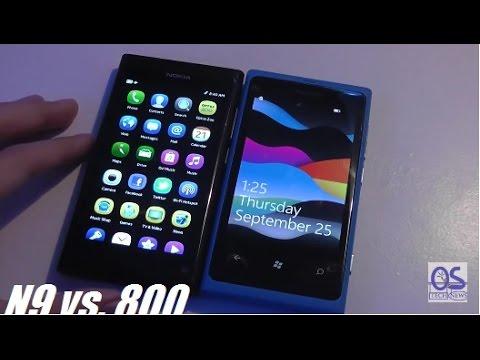 Comparison: Nokia N9 versus Nokia Lumia 800
