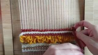 Loom weaving tutorial for beginners: The soumak technique 2