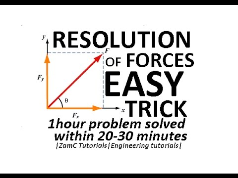 [HACK] Engineering Mechanics SEM-1 - Resolution of forces -|EASY TRICK|