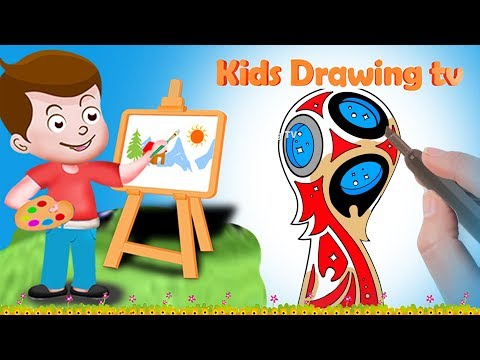 Drawing WORLD CUP RUSSIA 2018 Logo Football FIFA Paint And Colouring For Kids | Kids Drawing TV