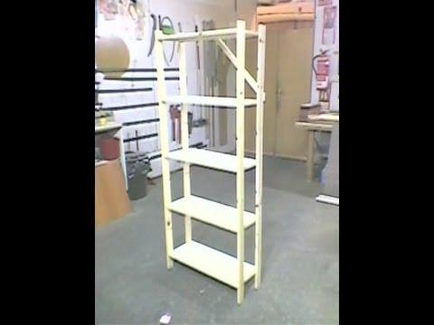 Como hacer una estanter a de madera youtube - Hacer una cama de madera ...