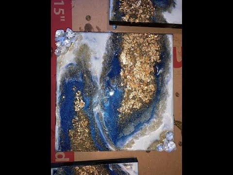 "Resin Art Tutorial- ""Pot of Gold"""