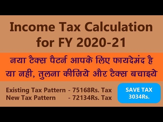 Income Tax | Calculator |  Financial Year 2020-21 | Old Regime | New Regime | Comparison
