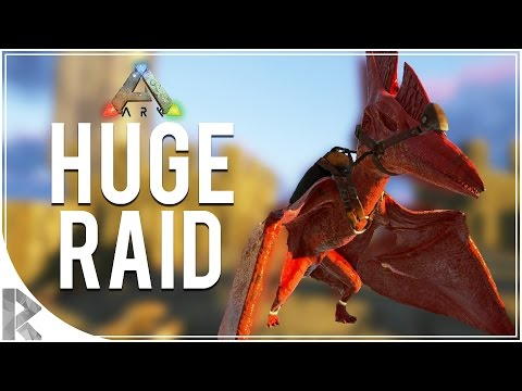 HUGE BASE RAID! - Let's Play Ark Survival Evolved (PVP Gameplay S7P35)
